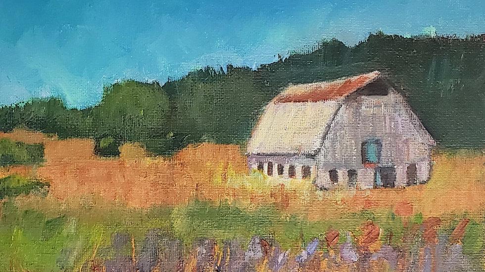 Old Barn - acrylic painting demo -4-1-21