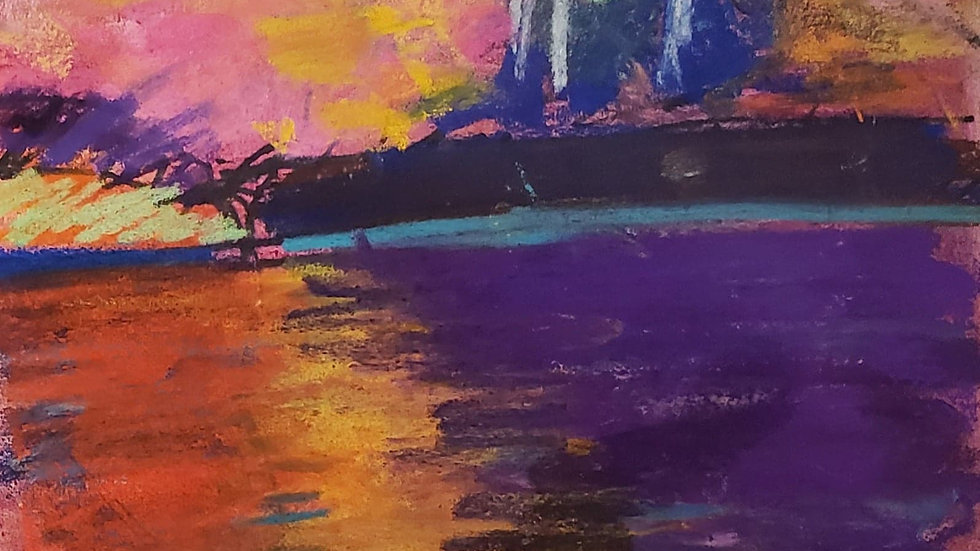 Pastel landscape - class demo on 11-19-20