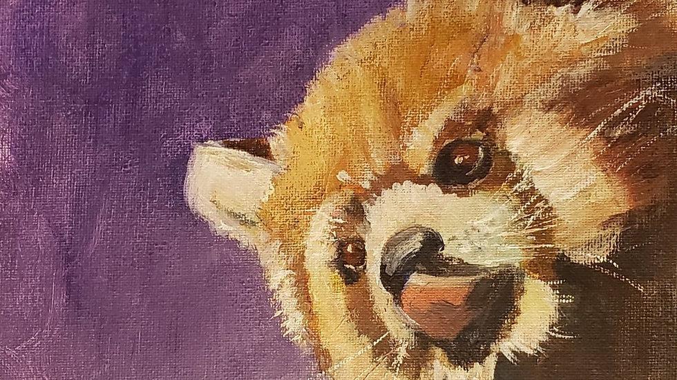 Red Panda (acrylic lesson, 3-5-21)