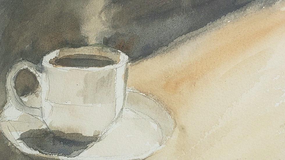 Morning Cuppa (Reuters Art Class, 10-8-20)