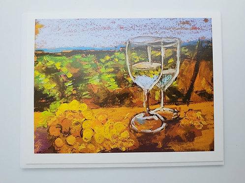 Let's drink wine notecard (blank inside)