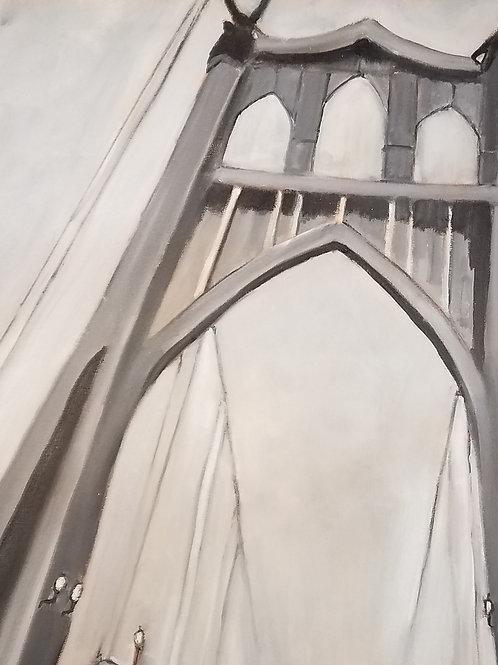Crossing the Bridge - 18 x 24 inches