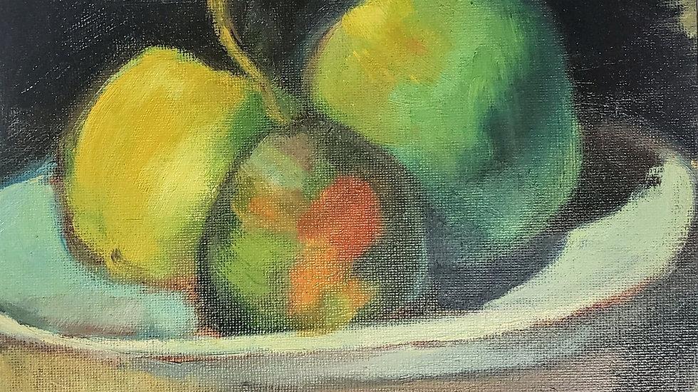 Pears a la Cezanne - Oil Painting Demo-05/21