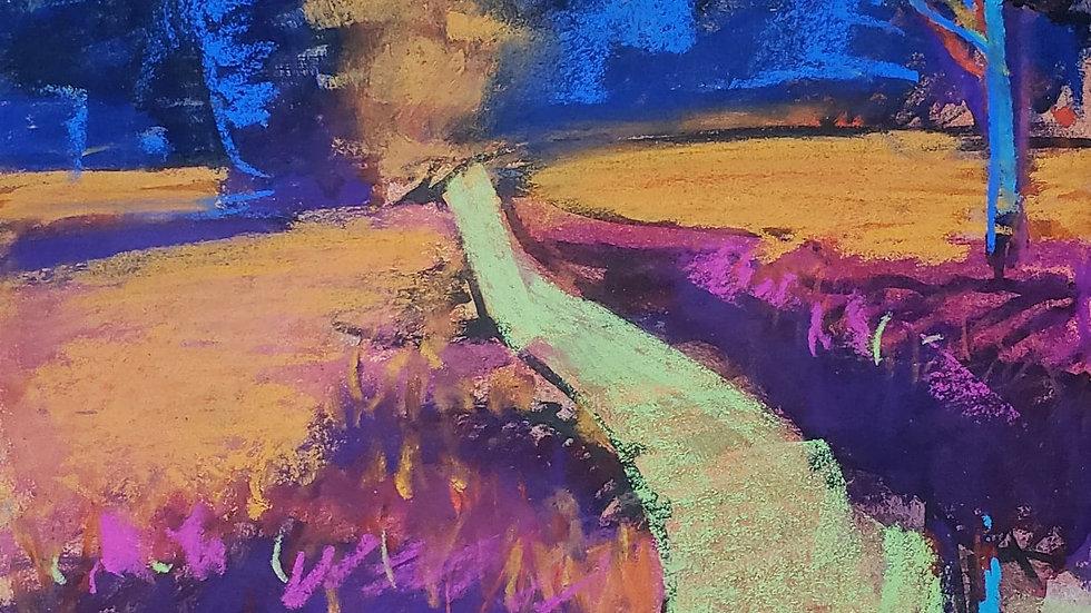 Pastel Landscape - art class demo 11-18