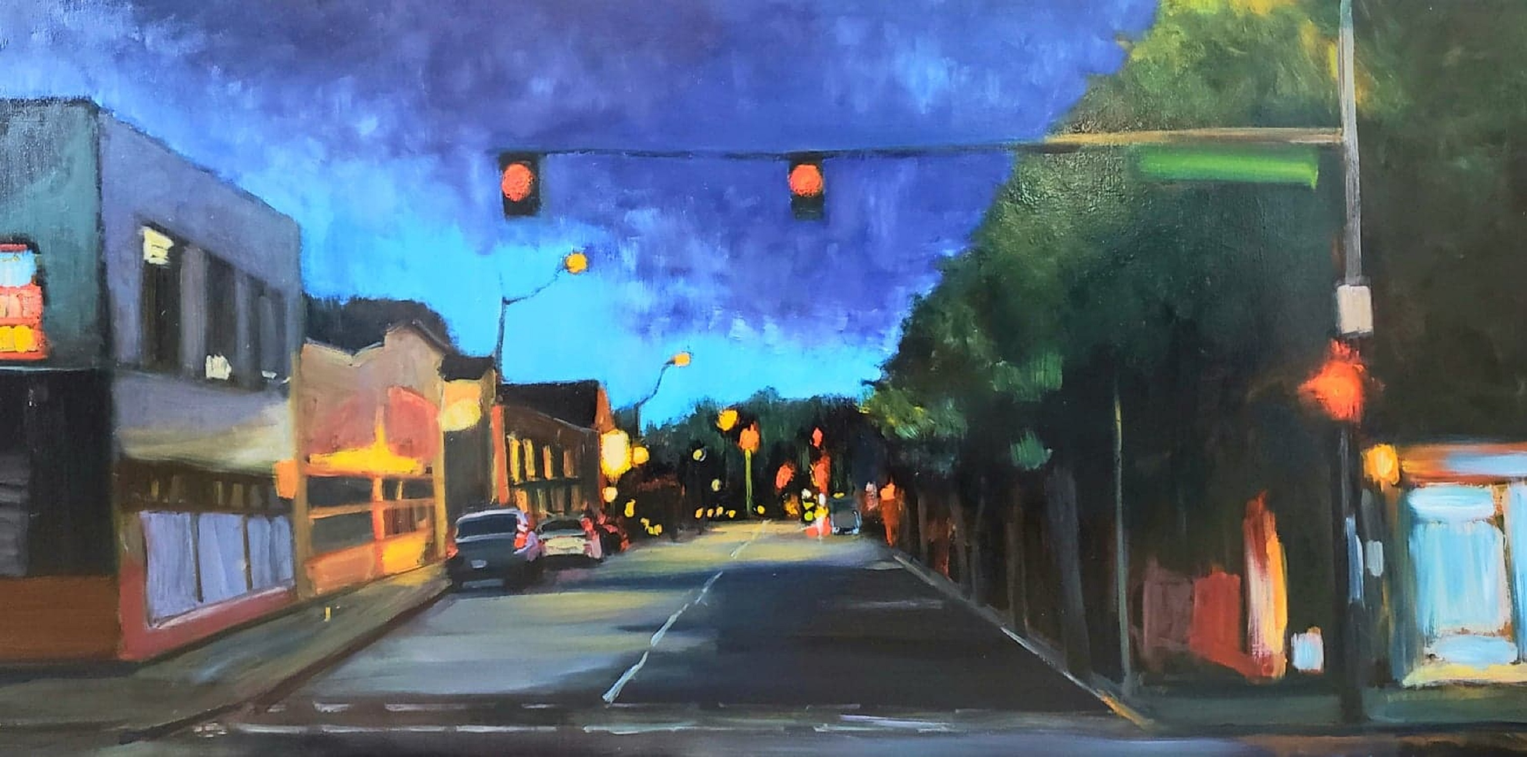 "Our Town - 24x48"" - $1800 - SOLD"