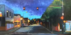"""Our Town - 24x48"""" - $1800 - SOLD"""