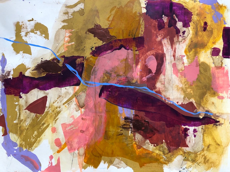 Tuesday - Abstract Mixed Media Painting