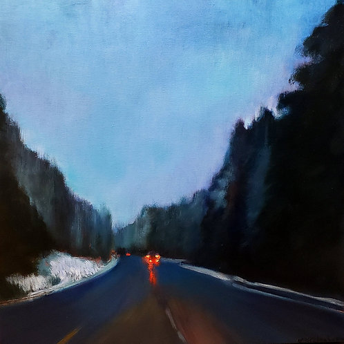 Blue Highway - 24 x 24 inches