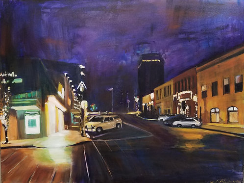 Night series:  Downtown - 30 x 40 inches
