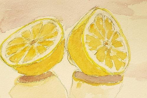 Lemons in black matt