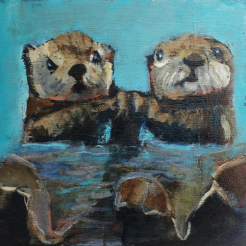 Two otters animal pal print