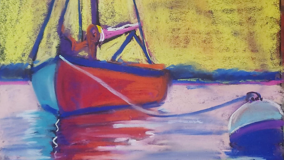 Sailboat - pastels - class demo on 12-9-20-02-20