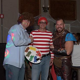 Colosimo, Ewing, and Smith Halloween Party