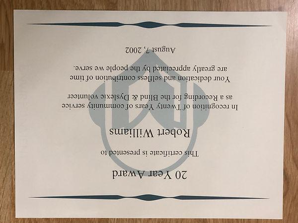 20 Year Award-Bob1a.JPG