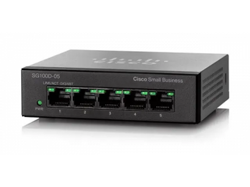 CISCO SG110D-05 5-PORT UNMANAGED GIGABIT DESKTOP SWITCH, 110 SERIES