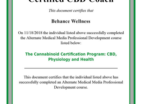 Behance Wellness now offering Certified CBD Coaching!