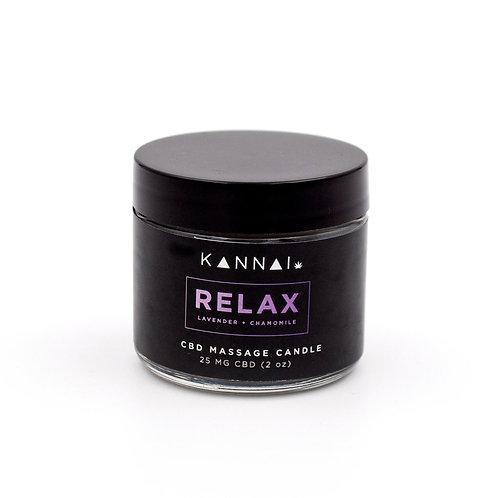 RELAX — Kannai CBD Massage Candle 2 oz