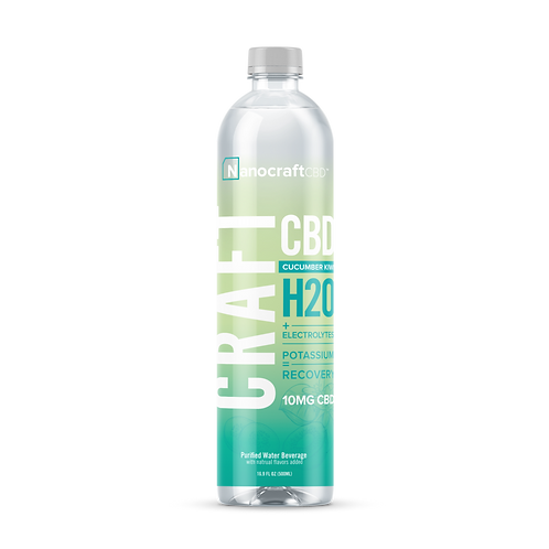 Nanocraft H20 CBD Recovery Water Cucumber Kiwi