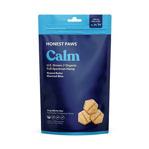 Honest Paws - Calming Bites with Roasted Peanut Butter Flavor