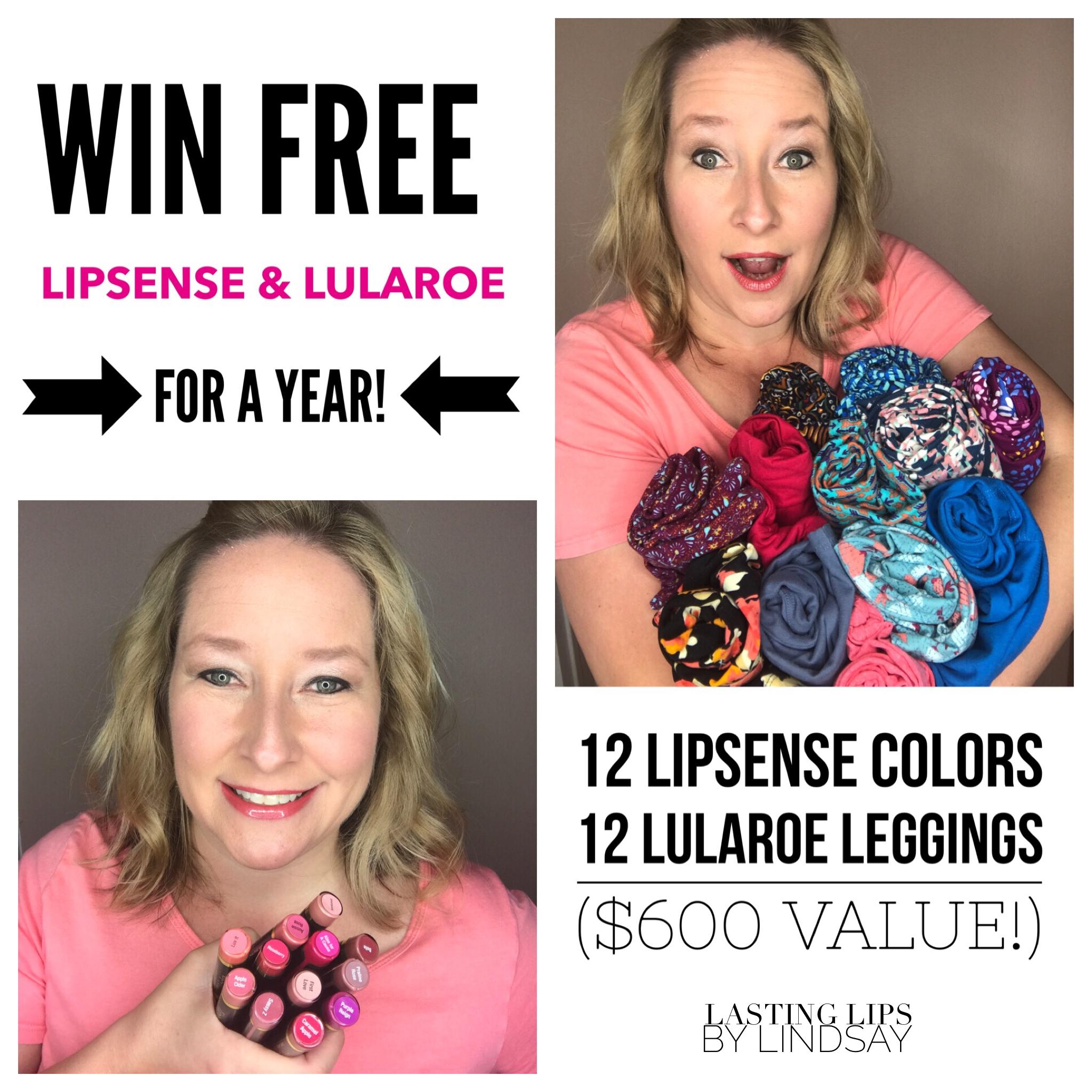 12 Lipsense Colors 12 Lularoe Leggings For Free Lipsense