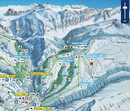 click for link to ski piste map