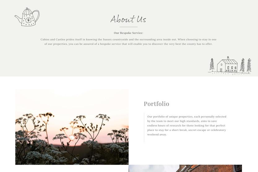cabins & castles website