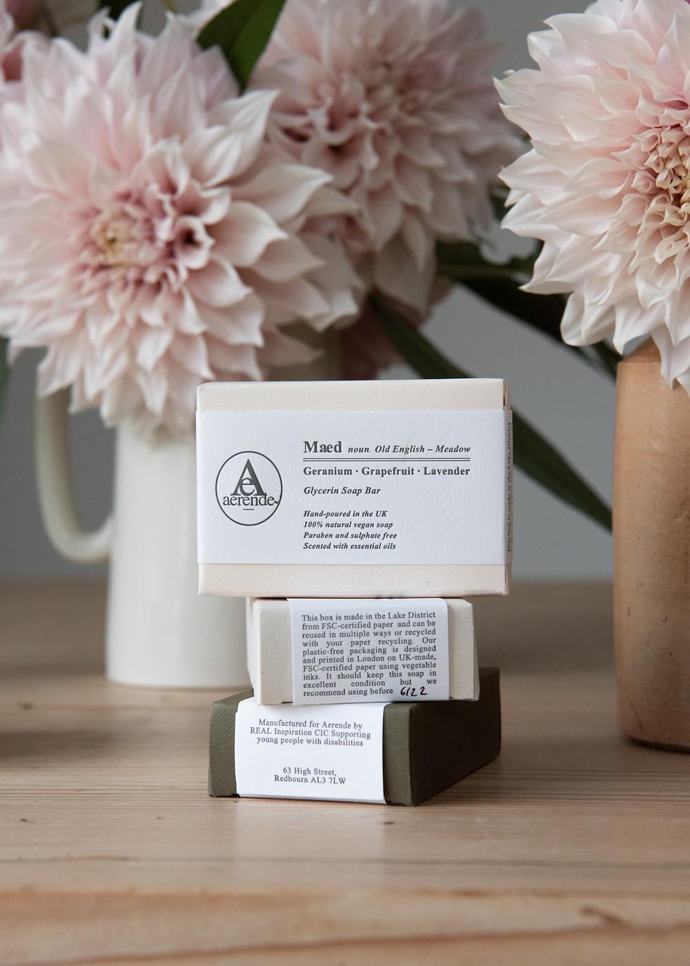 Aerende - life improving homewares - glycerin soaps