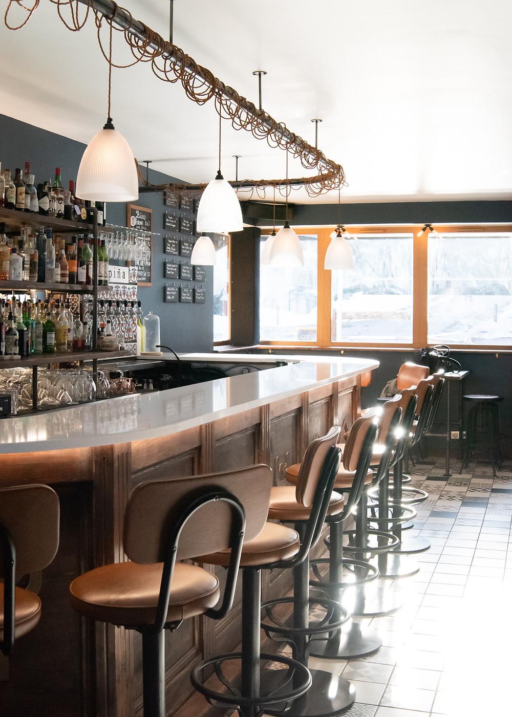 The bar at La Copiña, Courchevel