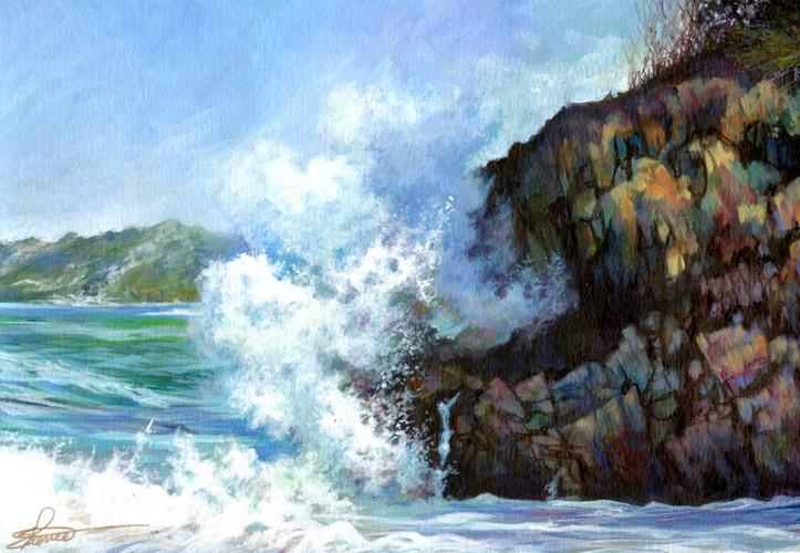 Wave vs Rock