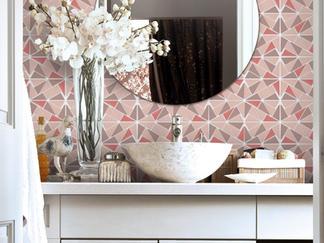 Profile Mosaic - Pink and Grey