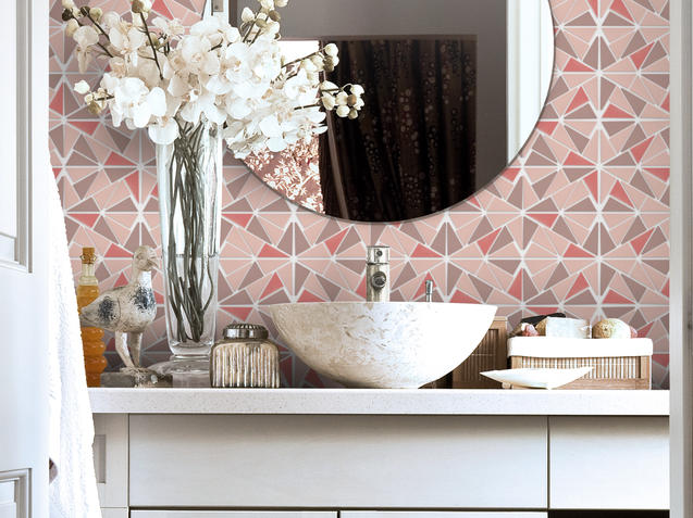 Profile Mosaic - Pink and Grey
