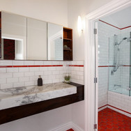 White Block tile with Lava Fingers and L