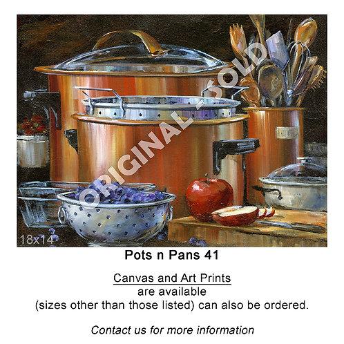 """Pots n Pans 41 - print"""