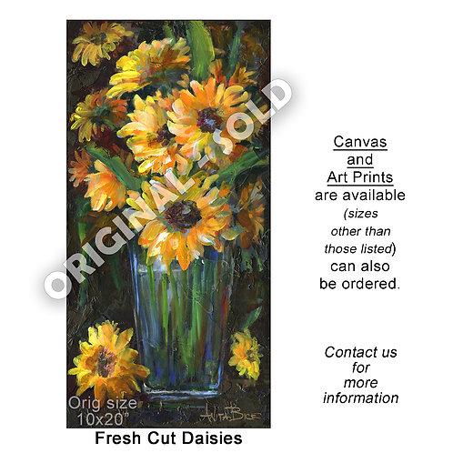 """""""Fresh Cut Daisies - print"""""""