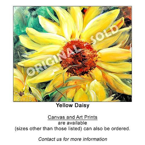 """Yellow Daisy - print"""