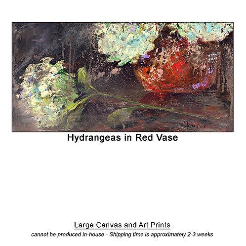 """Hydrangeas in Red Vase_large prints"""