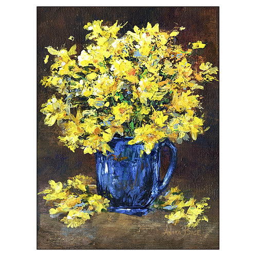 """""""Daffodils in Blue Cup"""""""