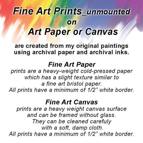 Fine Art/Canvas prints