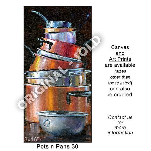 """Pots n Pans 30 - print"""