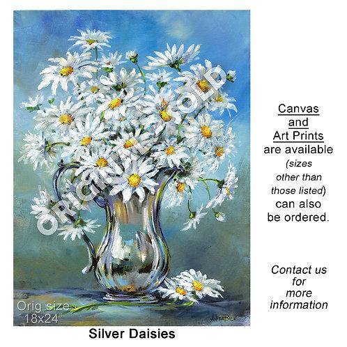 """""""Silver Daisies - print"""""""