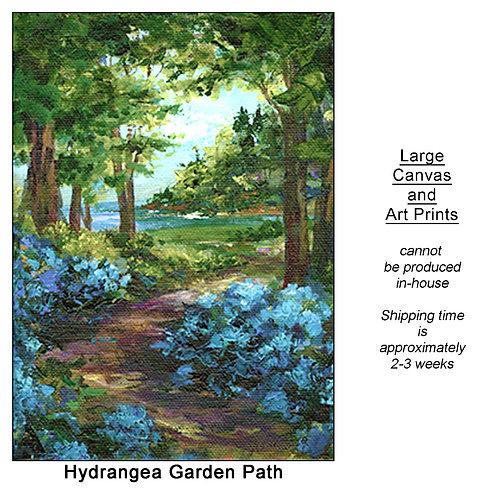 """Hydrangea Garden Path_large prints"""
