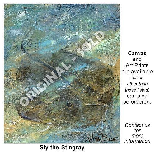 """Sly the Stingray - print"""