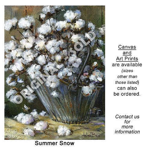 """Summer Snow - print"""