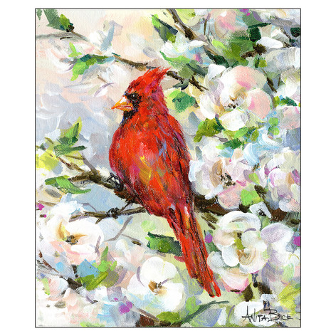 Spring Visitor - Reverse Image