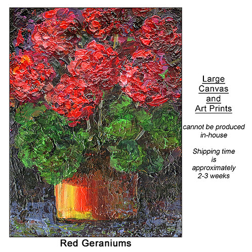 """Red Geraniums_large prints"""
