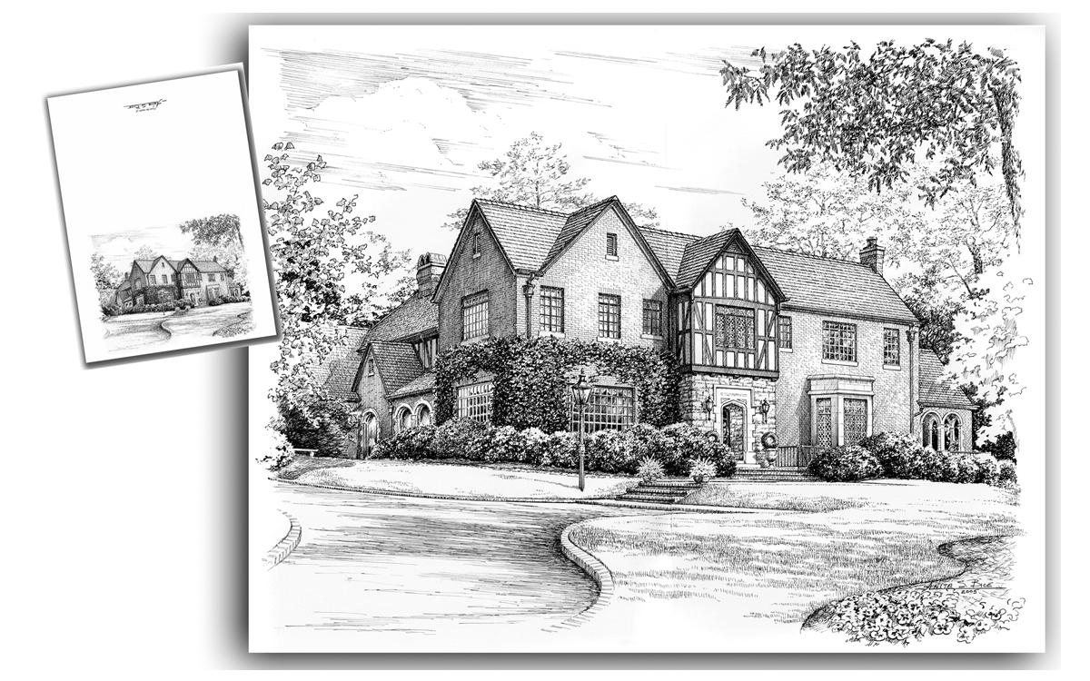 Commissioned Pen and Ink