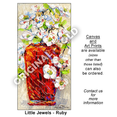 """Little Jewels - Ruby - print"""