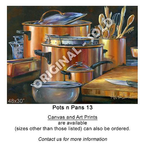 """Pots n Pans 13 - print"""