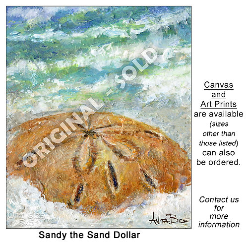 """Sandy the Sand Dollar - print"""
