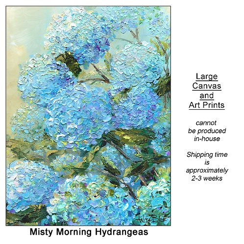 """Misty Morning Hydrangeas_large prints"""